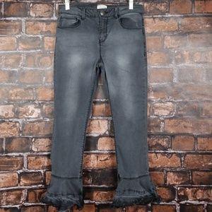 GB Girls  Ruffle Hem Crop Jeans sz 14